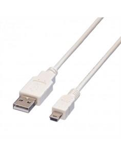 VALUE Câble USB 2.0, type A - mini 5-broches, blanc, 1,8 m