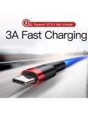 Baseus Cafule Câbles Data pour USB TYP-C 3A / 1m red-black