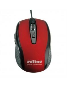 ROLINE Souris optique USB rouge/noir