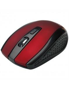 ROLINE Souris optique USB sans fil, rouge/noir