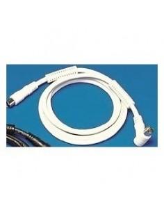 Câble coaxiale mâle/femelle blanc RG59 filtre 100hz 2m50 sous blister