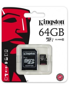 Kingston ( microSDXC to SD adapter included ) - 64 GB - UHS Class 1 / Class10