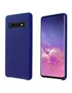 """""""OKKES"""" Silicone Cover """"Liquid"""" pour Samsung G970F Galaxy S10E bleu cobalt"""