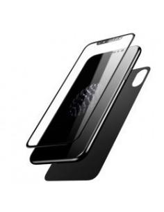 Baseus Glass Film Set frontale Film + Back Film 0.23mm pour Apple Iphone X / XS (5,8) noir