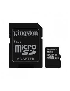 Kingston ( microSDHC to SD adapter included ) - 16 GB - Class 10