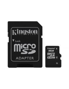 Kingston ( microSDHC to SD adapter included ) - 8 GB - Class 4 - microSDHC