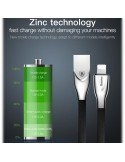 Baseus Zinc Fabric cloth Weaving Câbles Data pour Apple Lightning 2A / 1m noir