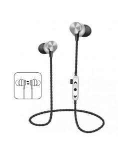 Hebu In-Ear Bluetooth Oreillettes Stereo MS-T13 Argent - noir