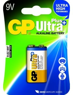 GP BATT. 9V 6LR61 ALK. PLUS