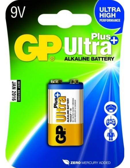 GP BATT. 9V 6LR61 ALK. PLUS
