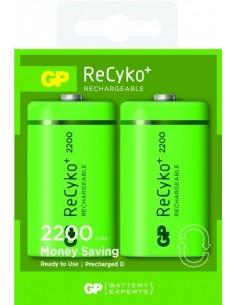 GP Blister 2 accus NiMH ReCyko+ D 2200mAh
