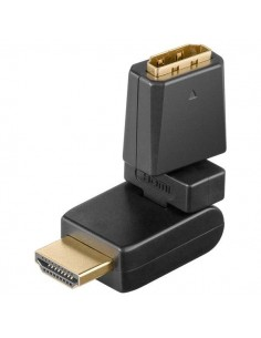 Adaptateur HDMI ™ 360 °, plaqué or - Connecteur femelle
