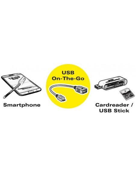 VALUE Câble USB 3.1, USB 3.1 Type C - A, M/F, OTG, noir, 0,15 m