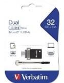 Verbatim Dual Drive - USB-flashstation - 32 GB
