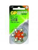 GP Blister 6 piles auditives ZA13 - PR48 - Orange