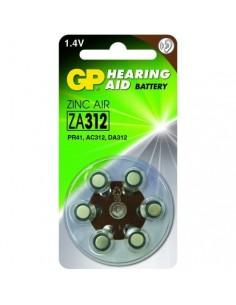 GP Blister 6 piles auditives ZA312 - PR41 - Brun