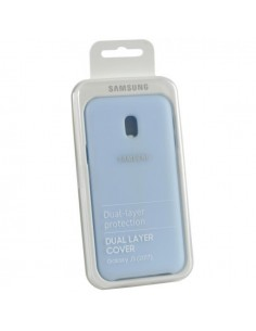 Samsung J330F Galaxy J3 2017 Dual Layer Cover Bleu Originale